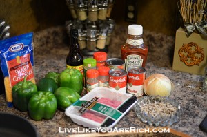 Wild Rice and Lentil Beef Stuffed Green Peppers
