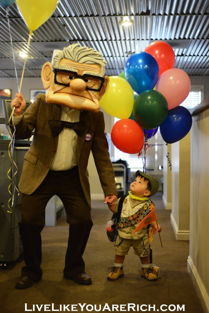 Russell and Mr. Fredrickson from the movie UP. Best photo of 2013 on major TV/Radio/Internet Station.