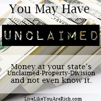 You May Have Unclaimed Money at Your State's Unclaimed-Property-Division and not even know it.