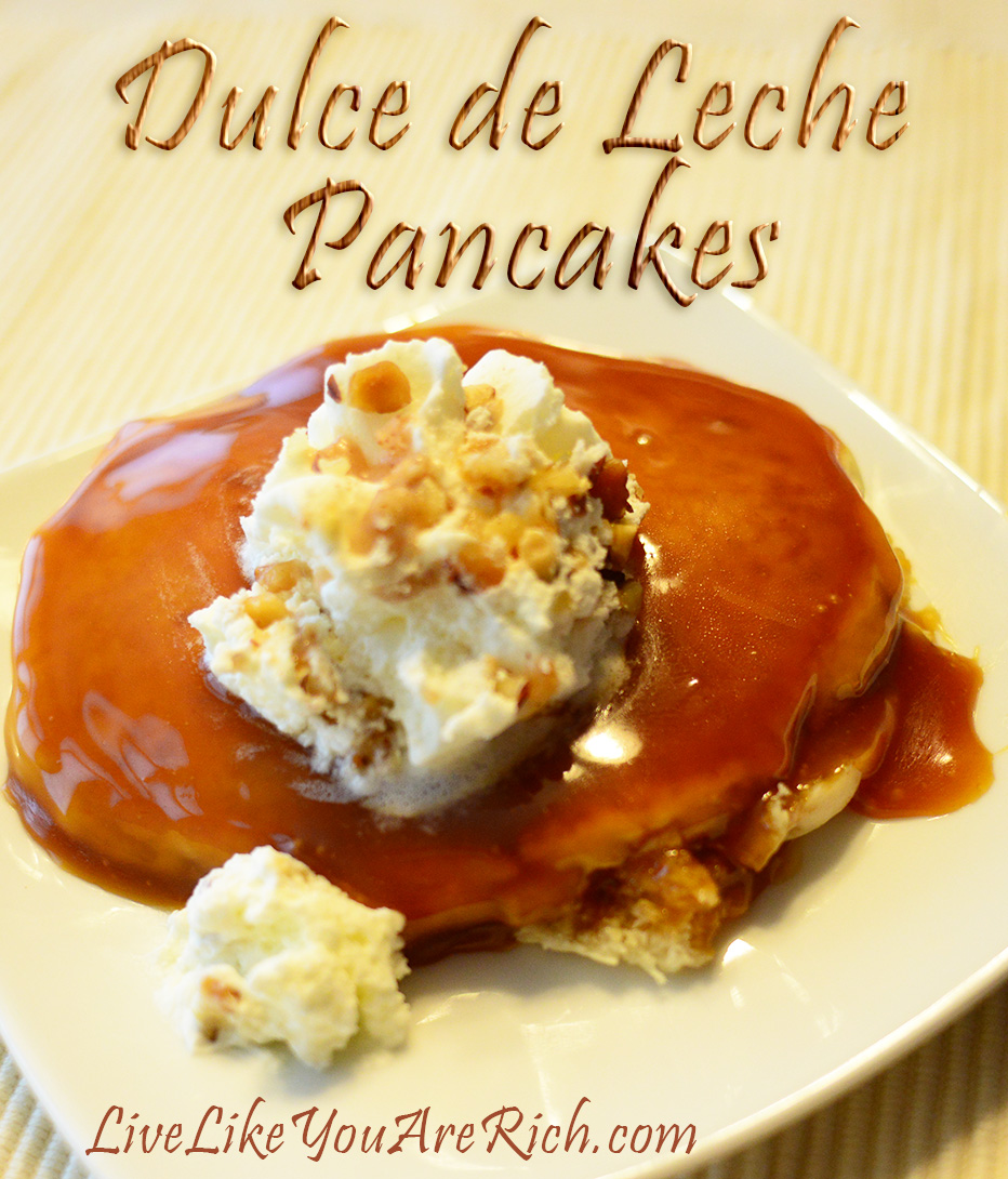 This Dulce de Leche Pancakes is easy to make.