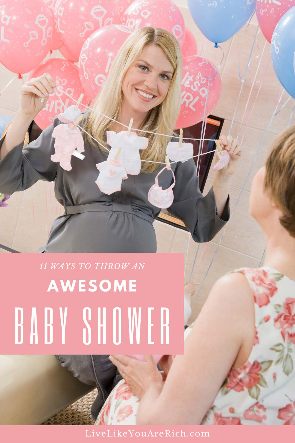 Most baby showers cost $300. Some say over $1,000. That's just too expensive if you ask me... here are 11 Ways to throw a baby shower for less than $50.00. Love tips 5 & 9! #babyshower #baby #savemoney