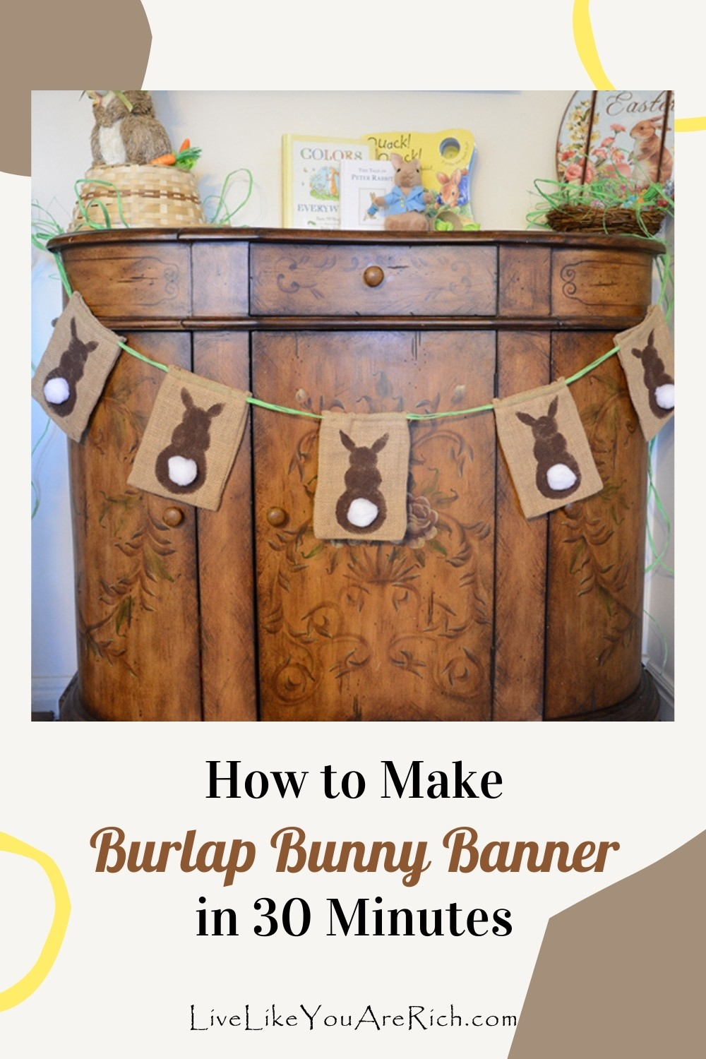 How to Make Burlap Bunny Banner in 30 Minutes