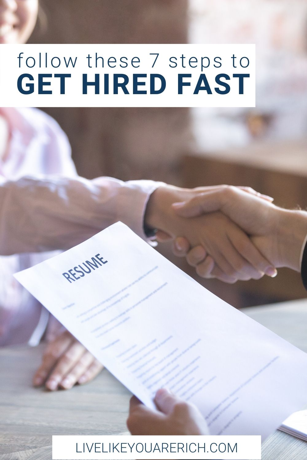 Before my son was born I was an office and hiring manager. Each time I advertised to hire some, I received over 100 resumes. I interviewed a lot of people. I've learned that there are things that can hinder your ability be hired. There are also ways to increase your changes of getting hired as well. Getting hired is a process but if you follow these top 7 steps you will get a job much quicker than if you don't.