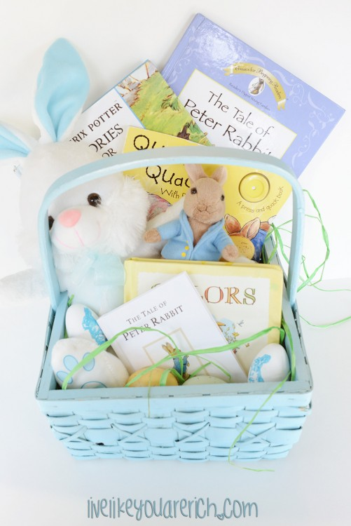 Peter rabbit candy free easter basket live like you are rich below are all 5 no candy easter baskets that my friends and i put together negle Image collections