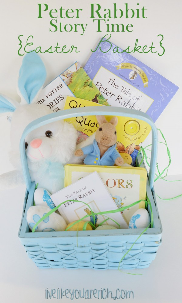 Peter Rabbit Story Time Easter Basket