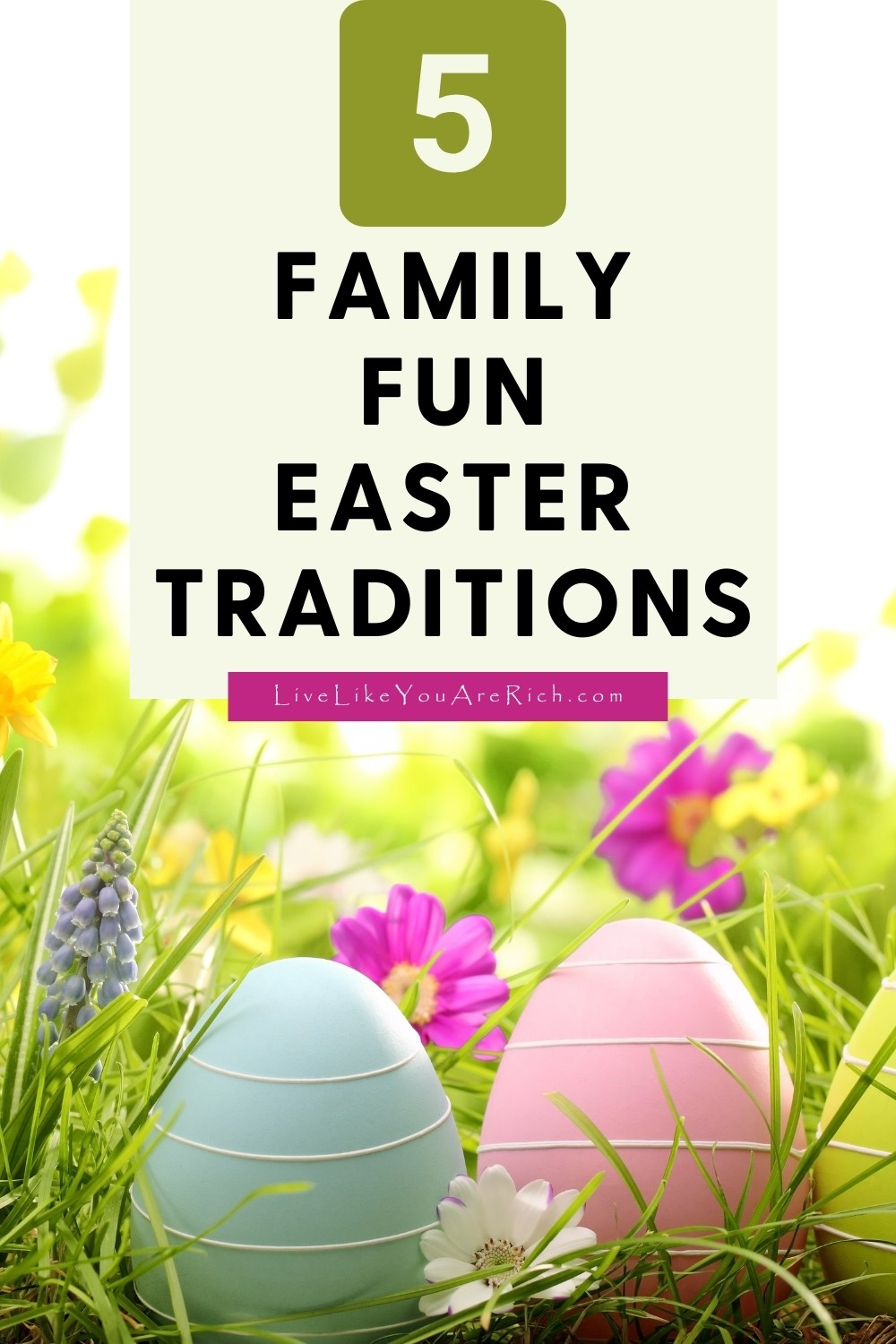 Easter is one of my favorite holidays. We always get together as a family and celebrate. Here are 5 Family Fun Easter traditions that I adore!