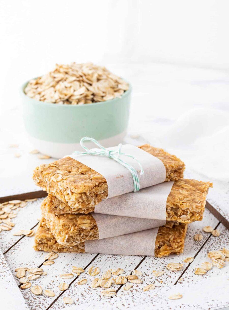 no-bake peanut butter protein bar