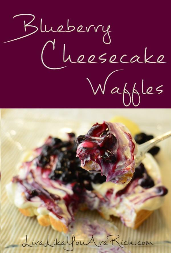 Blueberry Cheesecake Waffles