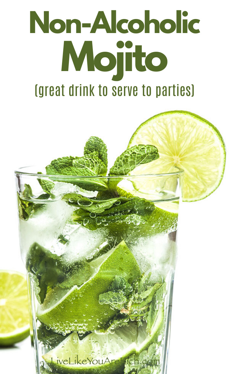 A virgin Mojito is a wonderful mixture of lime and mint—bubbling with sweetness.