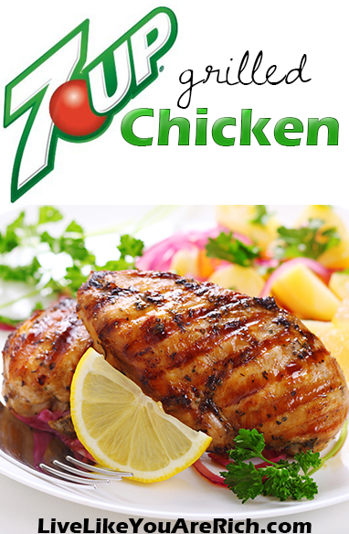 Looking for a succulent delicious and flavorful BBQ staple? This 7UP chicken won't let you down! #grilledchicken #7upgrilledchicken