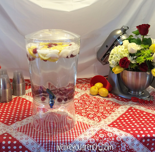 LemonRaspberry water -Kitchen Themed Bridal Shower