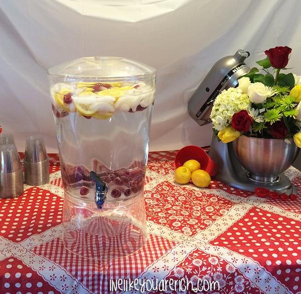 LemonRaspberry water -Kitchen Themed Bridal Shower