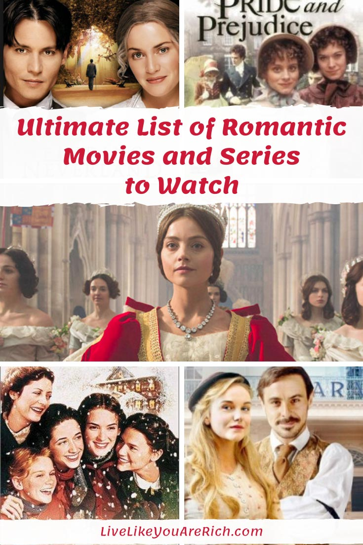 I love romantic period classic films and TV shows. Especially those with good acting, that are well written, and historically accurate. Pride and Prejudice and Downton Abbey have been extremely popular. For those wishing to find more, I've created this list of similar productions. #livelikeyouarerich #romanticmovies #downtonabbey