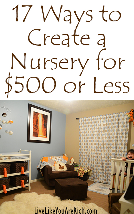 17 Ways to create a nursery for $500 or less