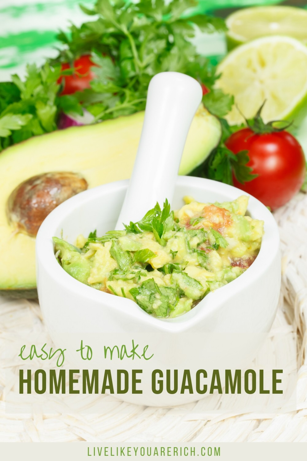 I've made this guacamole recipe countless times since discovering this easy and simple recipe. I've made it for my family, extended family, and for parties. Everyone has always said that it is either 'super good' or the 'BEST guacamole' they've had.