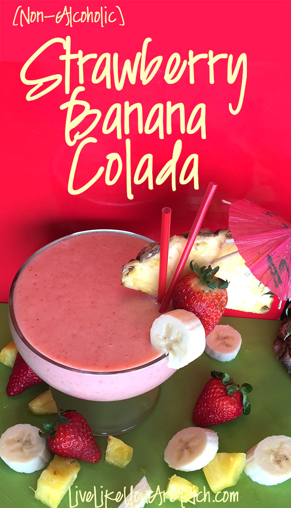 Non-Alcoholic Strawberry Banana Colada
