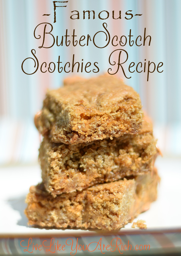 Famous Butterscotch Scotchies Recipe