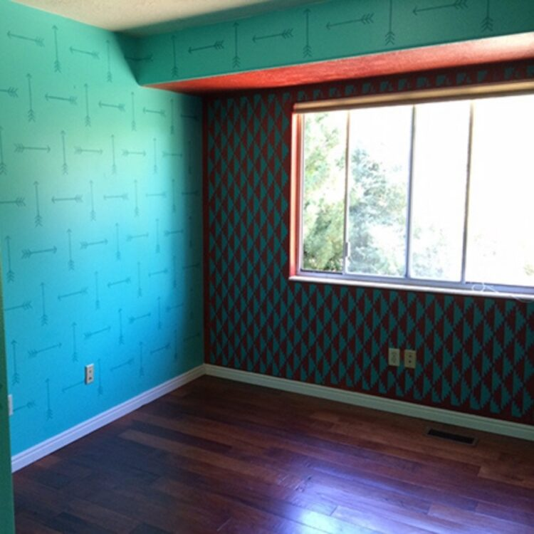 How to Paint and Stencil an Entire Room