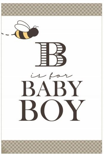 Bee is for Boy Baby Shower sign