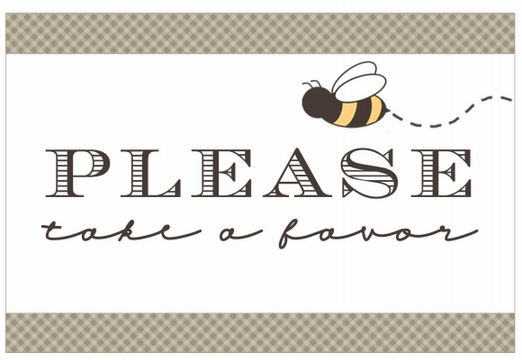 Bee is for Baby- Favor Tag