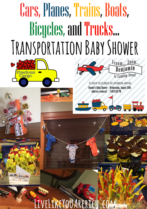 Cars, Planes, Trains, Boats, Bicycles, and Trucks... Transportation Baby Shower
