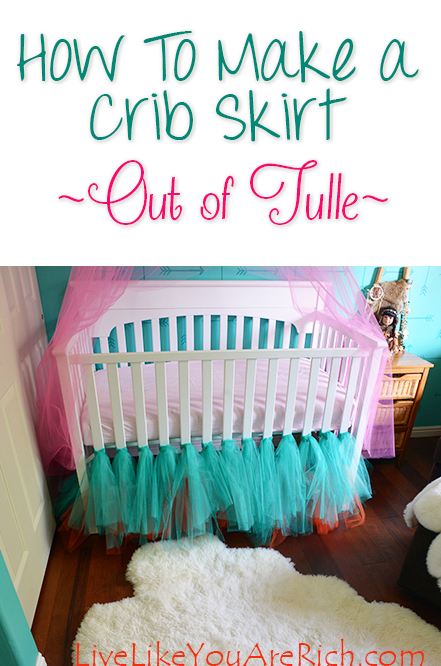 How to Make a Crib Skirt Out of Tulle