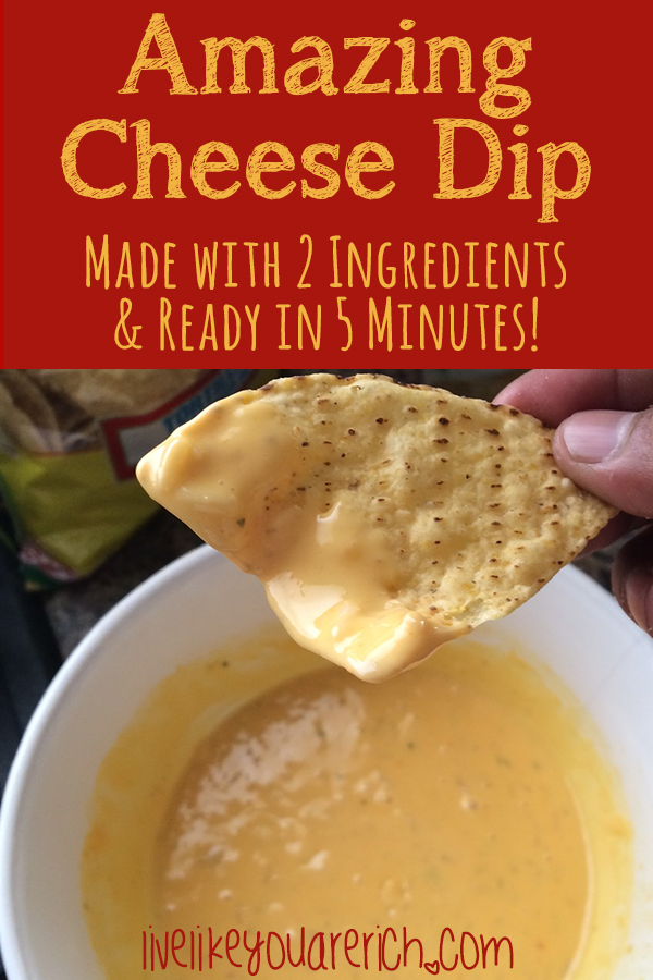 This Chicken with Rice and Velveeta Cheese Dip is a two-ingredient 5 minute to make is amazing. It has a wonderful well-rounded taste of cheese, very mild spice, and depth of flavor.  It is better than any chip dip you can buy pre-made off of the shelves at the stores as well.