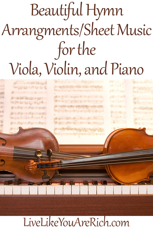 Viola, Violin, Piano Hymn Sheet Music