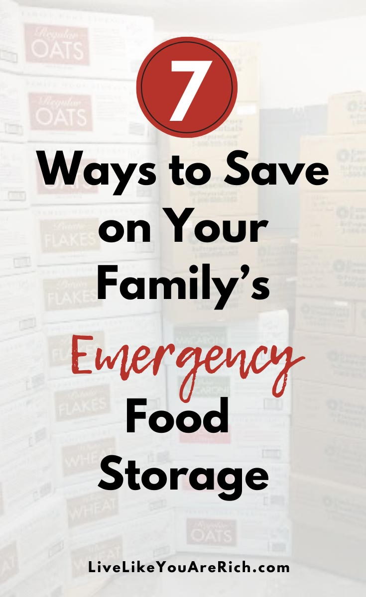 Having food stored brings a huge peace of mind and security for those who have it. I hope that using these seven steps will save you money in the process of getting your food storage! #emergency #foodstorage