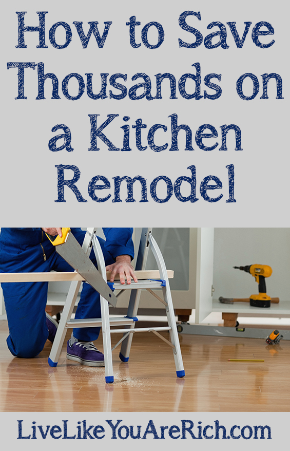 Planning a kitchen remodel/renovation on a budget? Read these money-saving tips and tricks to save tens of thousands on on a kitchen remodel. #kitchen #kitchenrenovation