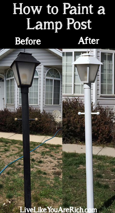 How To Spray Paint A Lamp Post