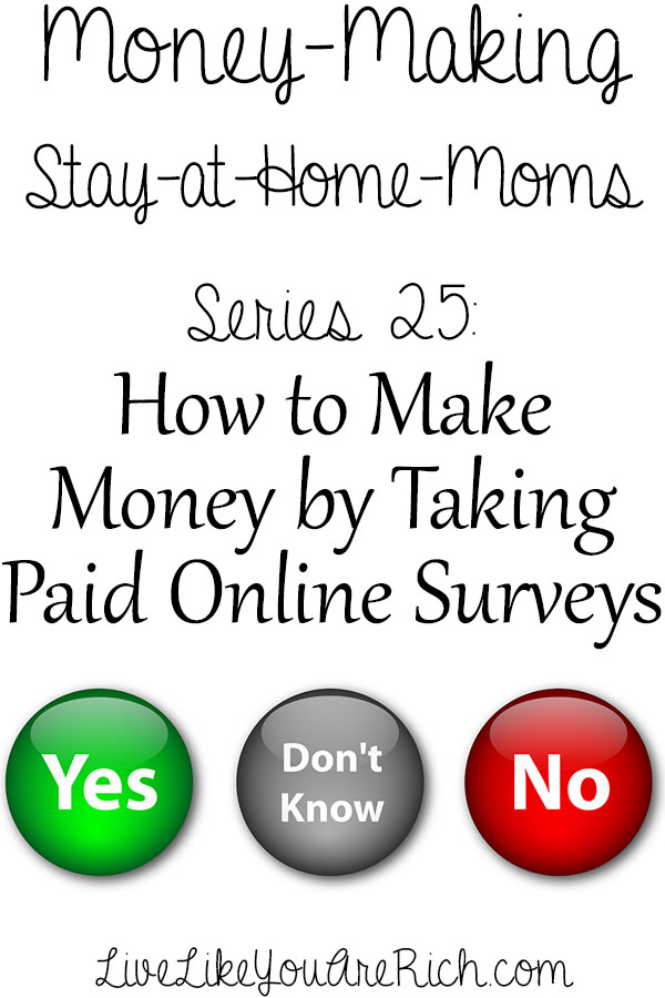 How to Make Money Taking Online Surveys | Live Like You Are Rich