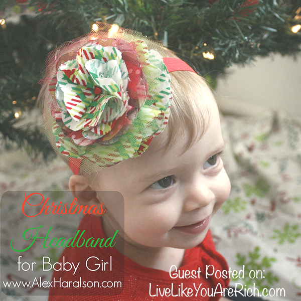 Christmas Headband For Baby Girl.Diy Christmas Headband For A Baby Girl