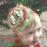 DIY Christmas Headband for a Baby Girl