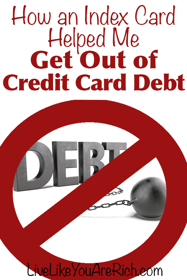 How an Index Card Helped Me Get Out of Credit Card Debt