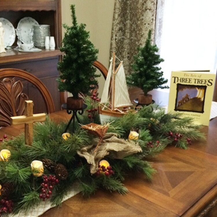 DIY The Tale of Three Trees as a Center or Mantlepiece
