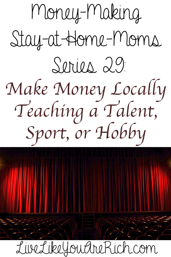 How to Make Money Locally Teaching a Talent, Sport, or Hobby