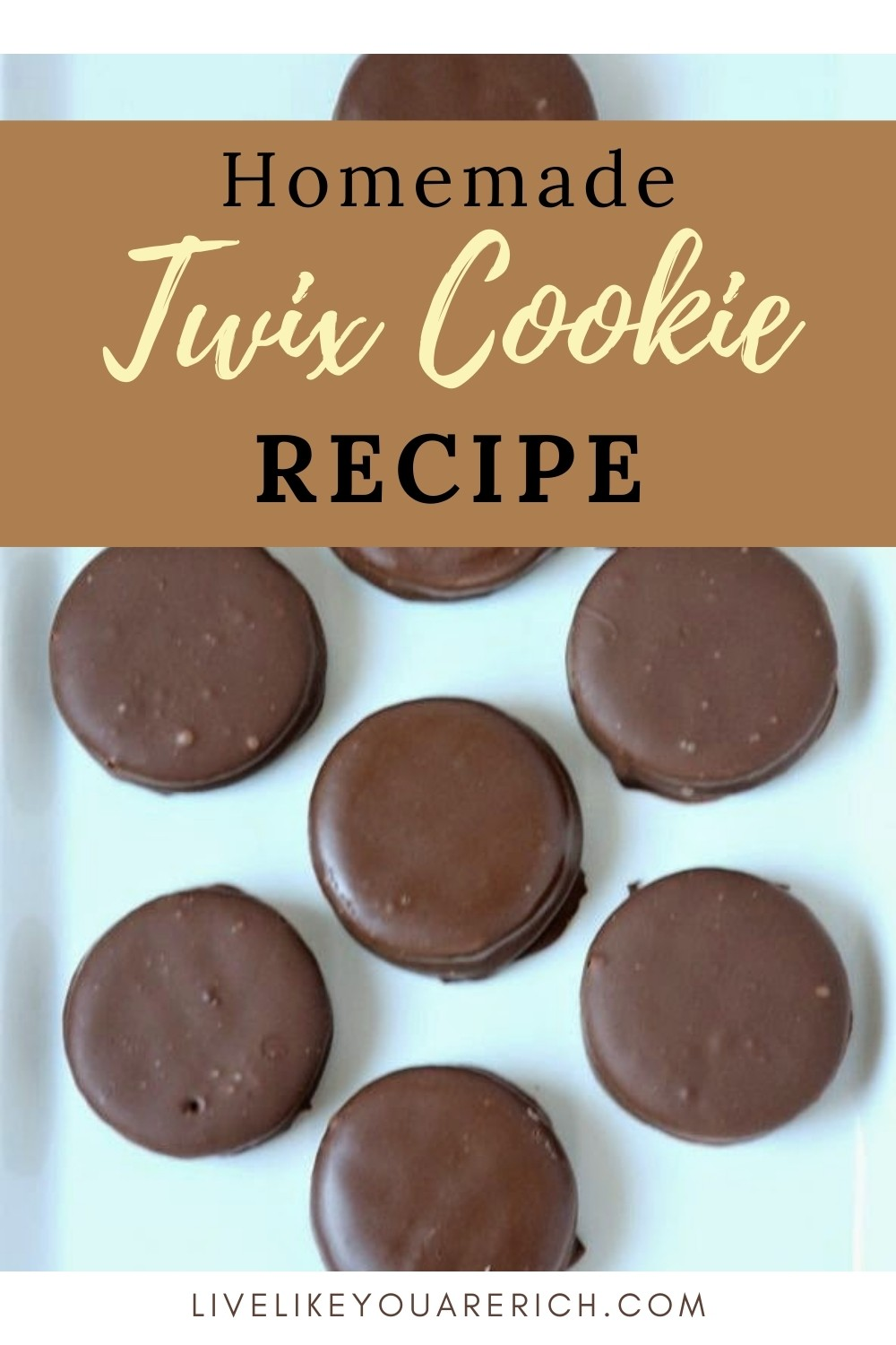 This no-bake Twix cookie recipe is super simple, quick, easy to make, requires only three ingredients, and is delicious! #twix #twixcookie