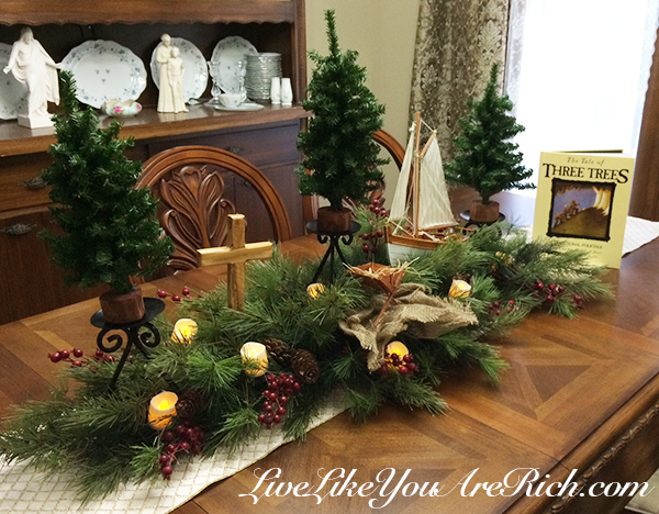 The Tale Of Three Trees As A Center Or Mantlepiece  Easy To Assemble And  Timeless