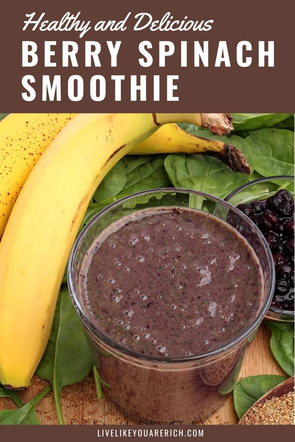"This Berry Spinach Smoothie is my favorite 'green"" drink smoothie. It's packed with vitamins, minerals, antioxidants, and has a good amount of protein. The flavor is actually fairly sweet and delicious."