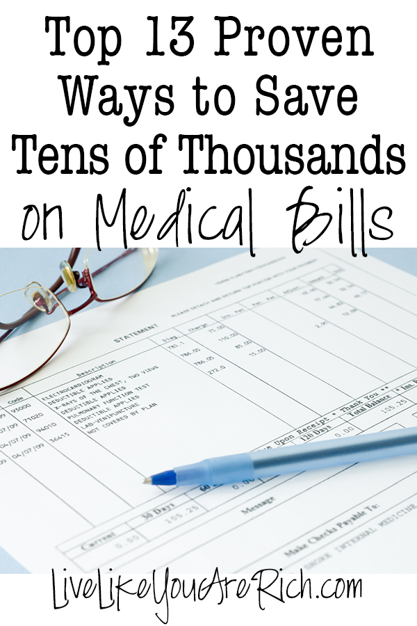 Top 13 Proven ways to save on medical bills and other expenses...even within the marketplace/Obamacare, and other plans as well.
