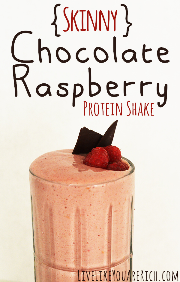 Skinny Chocolate Raspberry Protein Shake- Delicious with only 275 calories