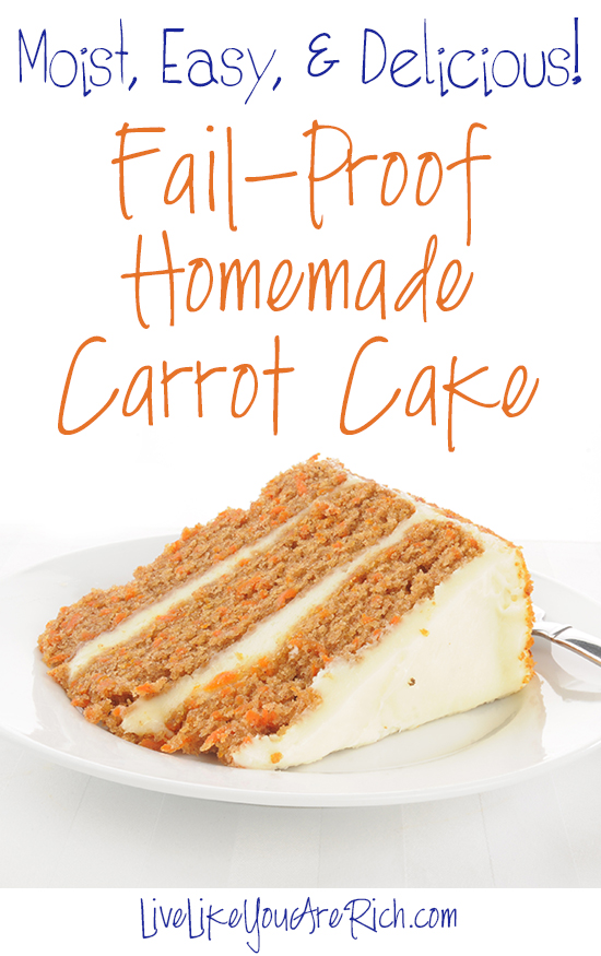 It is deliciously moist, very flavorful, and is easy to make. Further, it is topped with the smoothest and best cream cheese frosting you can find.