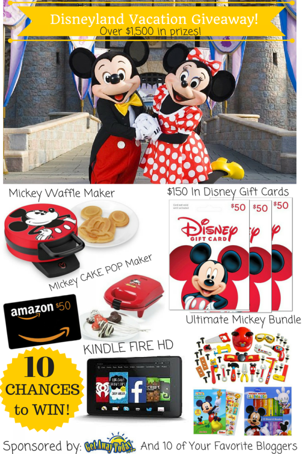 Disney Land Vacation Giveaway #PinToWinDisneyRoundRobinGiveAway #Giveaway