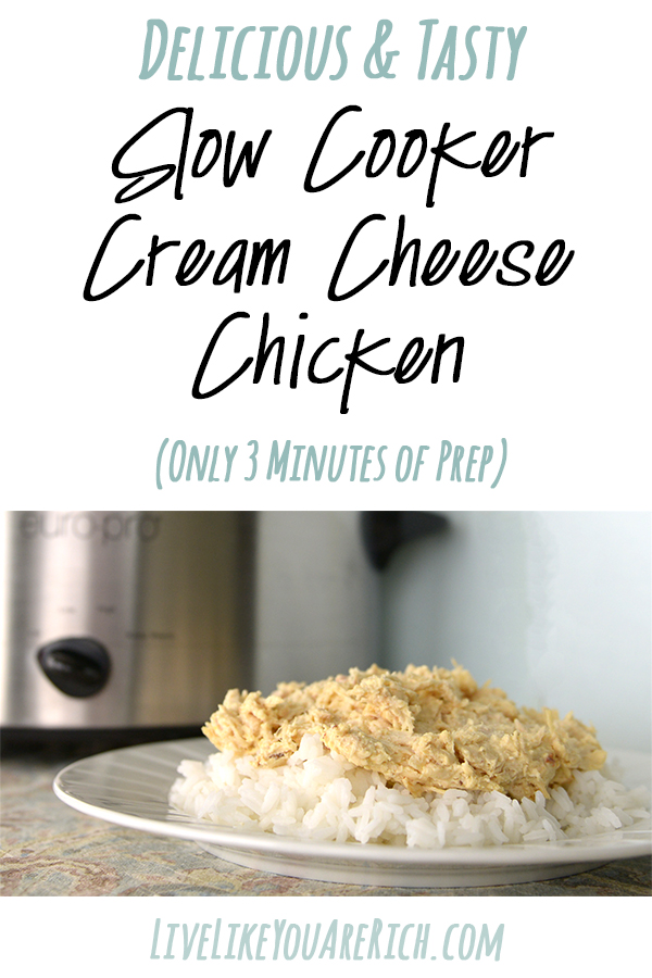 Delicious and tasty cream cheese chicken! Great over rice or noodles.