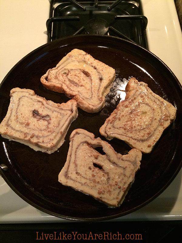 Cook on medium heat until golden brown on each side.
