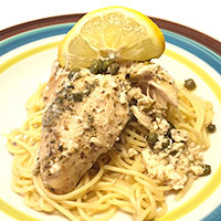 Slow Cooker Lemon Chicken Piccata
