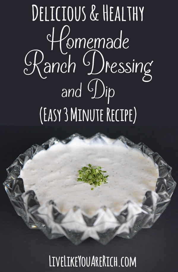 How to Make Homemade Ranch Dressing or Dip