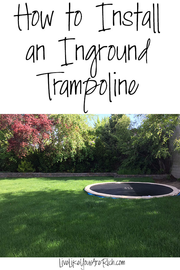 How to install an Inground Trampoline.