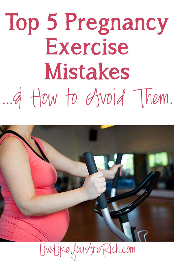 It's amazing how being pregnant changes almost every aspect of your life—almost immediately.While you incorporate exercise as a part of your daily routine to enjoy a healthy pregnancy, if careless, you could be causing yourself (and your baby) more harm than good. Here are the top five pregnancy exercise mistakes and ways to avoid them. #pregnancy #pregnancytips #healthandfitness